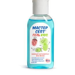 Дезинфицирующие средства - Мастерсепт гель kids 50мл кожный антисептик (голубой), 0