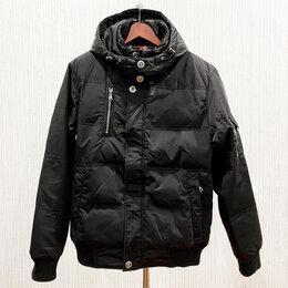 Куртки - Куртка мужская, с капюшоном, черная,  COLINS, 0