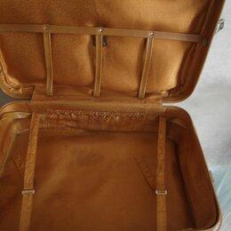 Чемоданы и аксессуары к ним - чемодан кожаный , 0