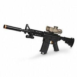 Игрушечное оружие и бластеры - Автомат M4 с гелевыми пулями на аккумуляторе, 0