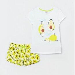 Домашняя одежда - Пижама с оригинальным принтом для девочек, 0