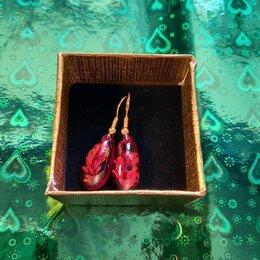 Серьги - Серьги из эпоксидной смолы и сухоцветов, 0