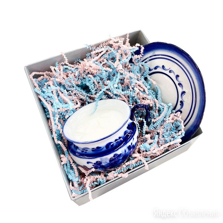 Упаковка Гжельский фарфоровый завод Коробка серебристая подарочная с наполнит... по цене 350₽ - Подарочная упаковка, фото 0