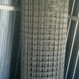 Заборчики, сетки и бордюрные ленты - Сетка сварная оцинкованная яч 50х50 (5 см) рулон 1х25м высота 180 см, 0
