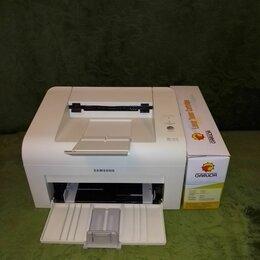Принтеры, сканеры и МФУ - Лазерный ч-б Samsung ML-1615 с новым картриджем., 0