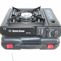 Туристические горелки и плитки - Плита газовая портативная с переходником Happy Home, 0