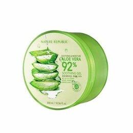 Увлажнение и питание - Гель для тела nature republic с алоэ soothing & moisture aloe vera 92%, 0