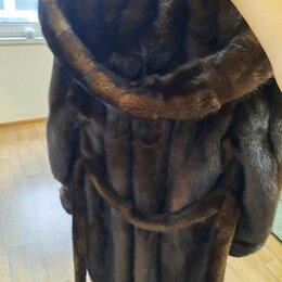 Шубы - Шуба норковая,цельная,размер 44 -46, 0