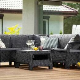 Кресла и стулья - Угловой диван и столик садовая мебель еко-ротанг, 0