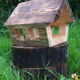 Миски, кормушки и поилки - Кормушка для птиц из дерева, 0