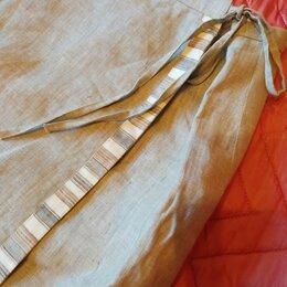 Юбки - Юбка, лён, на подкладке, Франция, размер 56, 0