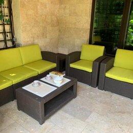 Аксессуары для садовой мебели - Комплект чехлов для Rattan Premium 4 желтый, 0