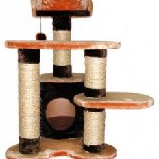 Когтеточки и комплексы  - Уют комплекс домик, три когтеточки, лежанка и игрушка,  55х50х77см, FASHION, 0
