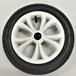 Обода и велосипедные колёса в сборе - Колесо надувное 12 дюймов 12 1/2х2 1/4 цвет белый, 0
