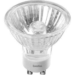 Лампочки - Лампа галогенная CL JCDRC 35Вт GU10 650Лм 52x50мм Camelion, 0