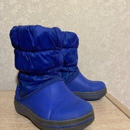 Сапоги, полусапоги - Крокс сапоги синие зима, 0