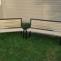 Скамейки - Садовые скамейки из профиля в стиле Лофт, 0