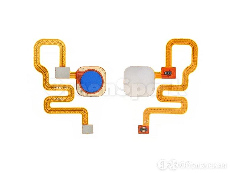 Шлейф для Xiaomi Redmi Note 6 Pro + сканер отпечатка (синий) по цене 430₽ - Прочие запасные части, фото 0