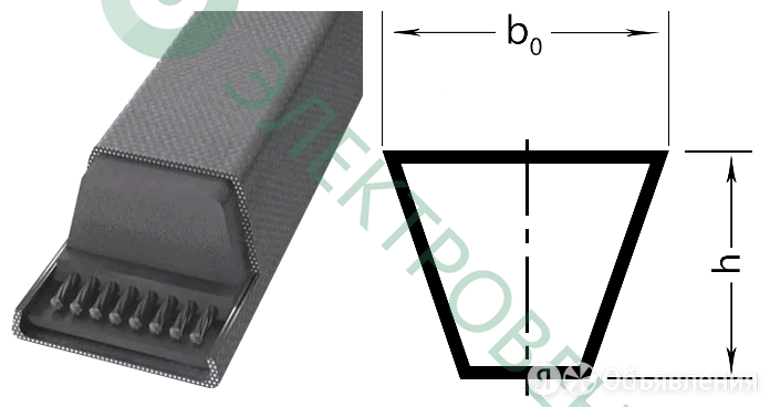 Клиновой ремень 17X925 B 36,5 Ld 970 по цене 598₽ - Вентиляция, фото 0