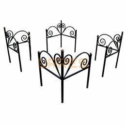 """Дизайн, изготовление и реставрация товаров - Кованая оградка на могилу """"Угловая №1"""", 0"""