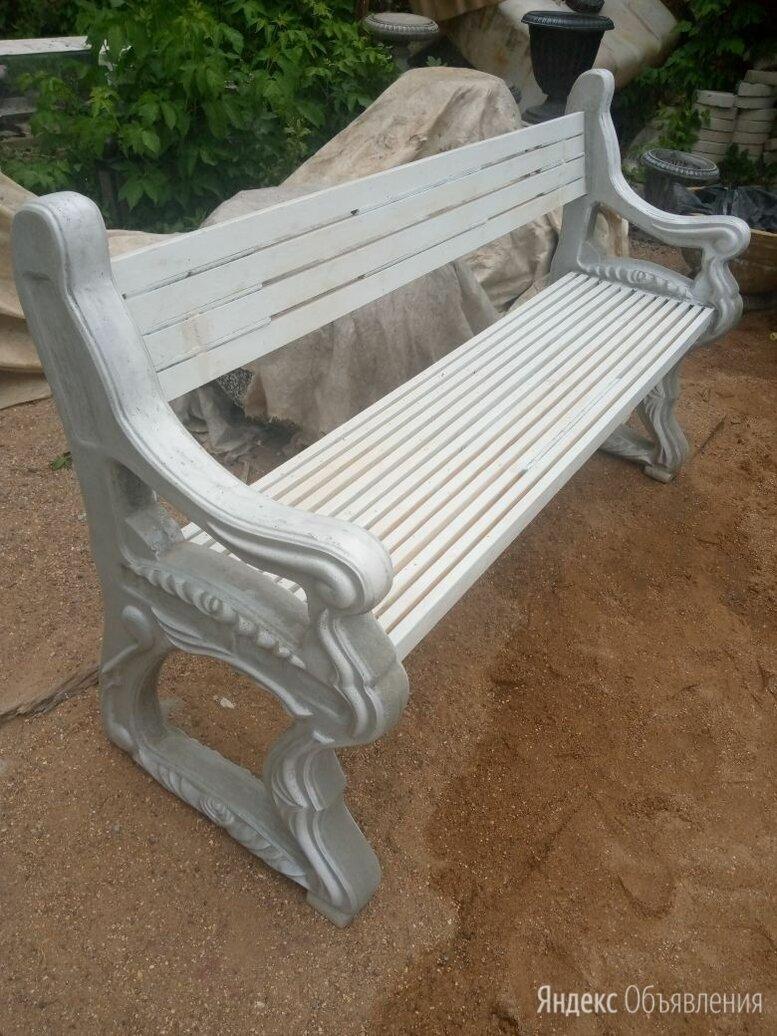 Скамья садовая белая по цене 5000₽ - Скамейки, фото 0
