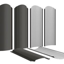 Заборы, ворота и элементы - Штакетник металлический Фигурный 110мм RAL8019 Темный Шоколад, 0