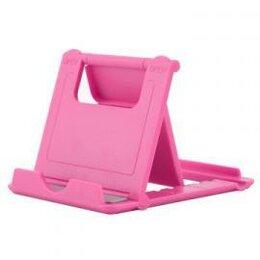 Подставки для мобильных устройств - Настольная мини-подставка для мобильного телефона, розовая, 0
