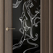 Межкомнатные двери - Дверь межкомнатная Пантера (экошпон), 0