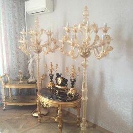 Торшеры и напольные светильники - Торшер / напольный канделябр, золото 24К, Мурано, 0