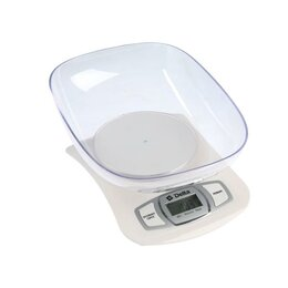 Кухонные весы - Весы кухонные DELTA KCE-40-21, электронные, до 5 кг, белые, 0