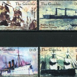 Марки - Корабли. Гамбия 2000 г., 0