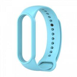 Ремешки для часов - Ремешок силиконовый для Mi Band 5 - голубой, 0