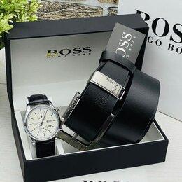 Наручные часы - Мужской набор часы ремень Boss, 0