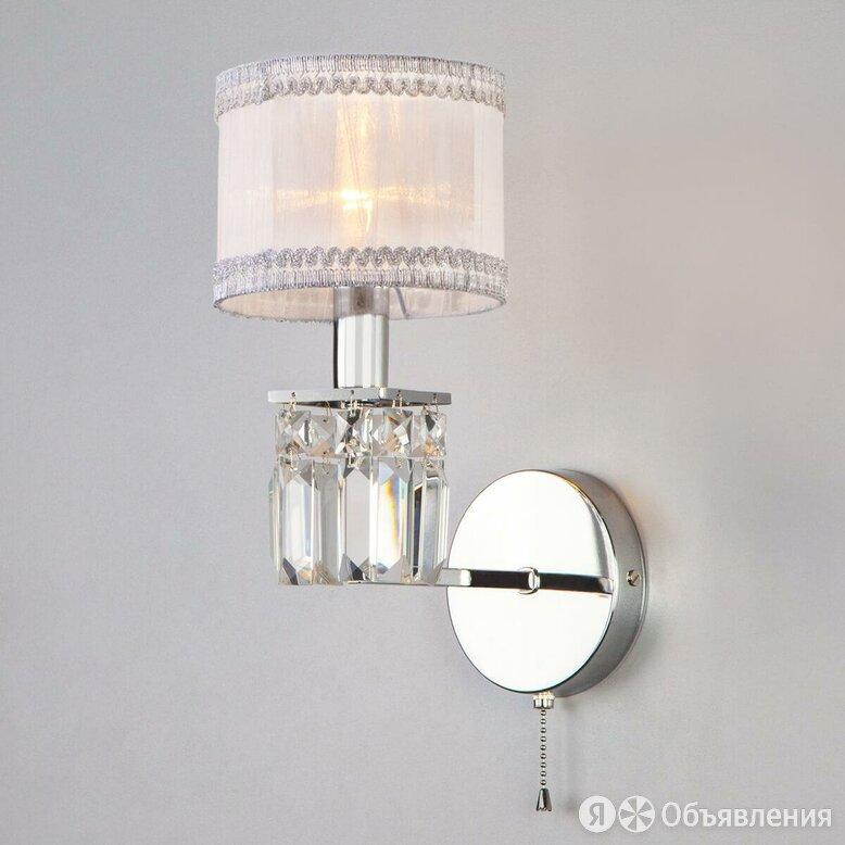 Бра Eurosvet 10099/1 хром/прозрачный хрусталь Strotskis по цене 3860₽ - Бра и настенные светильники, фото 0