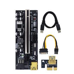 Компьютерные кабели, разъемы, переходники - Райзер pci-e ver. 009C Plus, 0