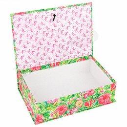 Цветы, букеты, композиции - Коробка-книга 18х12х5см, Фламинго, 0