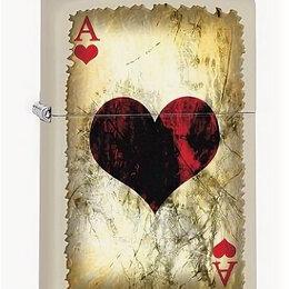 Пепельницы и зажигалки - Зажигалка Zippo 78669 Ace Of Hearts Worn, 0