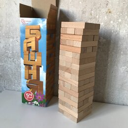 Настольные игры - Настольная игра «Башня» (Дженга/Jenga), 0