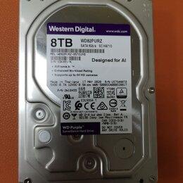 Жёсткие диски и SSD - Жесткий диск (HDD) 8Tb (WD82PURZ) новый, 0