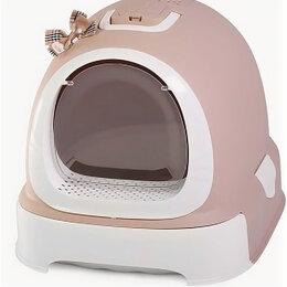 Биотуалеты - Туалет-бокс, выдвижной поддон, Фэнтези 55*42*43 какао 1шт/уп, фильтр, совок, ..., 0