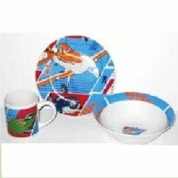 Игрушечная еда и посуда - Набор детский Самолеты (фарфор) PL14-39EZ 3 предмета п/у, 0