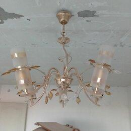 Люстры и потолочные светильники - Люстра трехрожковая чехия, 0