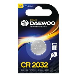 Батарейки - Батарейки Daewoo CR2032 BL-1, 0
