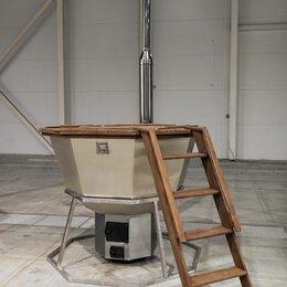 Бочки и купели - Банный чан на 2-4 человека с печью на подставке , 0