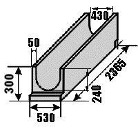 Железобетонные изделия - Лотки водоотводные железобетонные, 0
