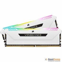 Модули памяти - Оперативная память DDR4 16GB (2x8Gb KIT) 3200Mhz Corsair RGB PRO SL белые CMH16, 0