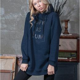 Толстовки - Толстовка спортивная женская. Цвет т.синий. Stillini™, 0