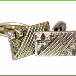 Запонки и зажимы - ЗАПОНКИ ВИНТАЖНЫЕ :: никель серебрение 6,7гр СССР, 0