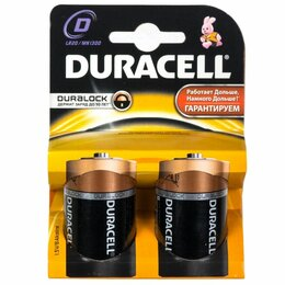 Батарейки - Батарейки Duracell LR20-2BL 2шт, 0