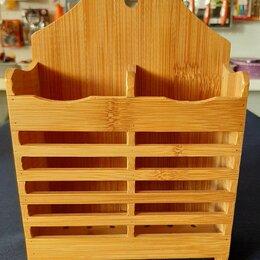 Подставки и держатели - Подставка для столовых приборов из дерева, 0